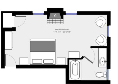 Bayberry Room Plan | Brewster By the Sea Cape Cod B&B | Brewster, MA