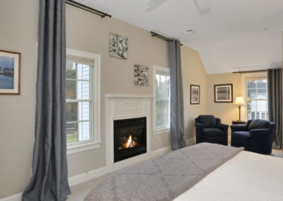 Bayberry Room Fireplace | Brewster By the Sea Cape Cod B&B | Brewster, MA