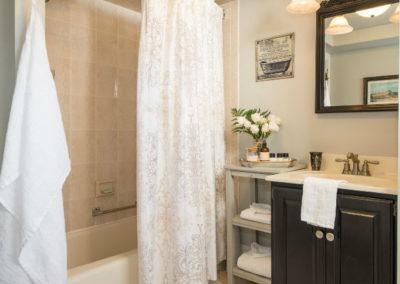 Garden Room Bathroom | Brewster By the Sea Cape Cod B&B | Brewster, MA