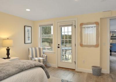 Patio Suite bedroom corner | Brewster By the Sea Cape Cod B&B | Brewster, MA