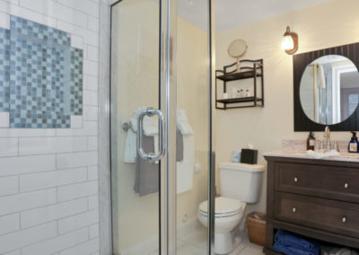 Patio Suite Bathroom | Brewster By the Sea Cape Cod B&B | Brewster, MA