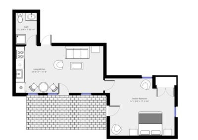 Patio Suite Plan | Brewster By the Sea Cape Cod B&B | Brewster, MA