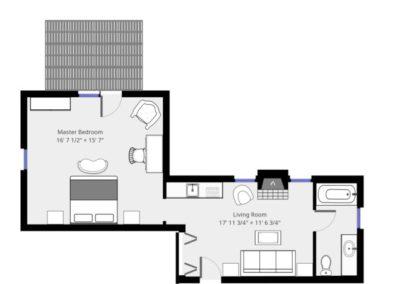 Refugio Suite Plan | Brewster By the Sea Cape Cod B&B | Brewster, MA