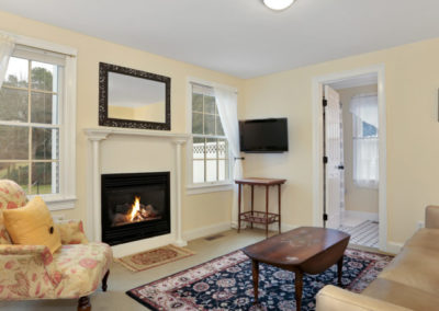 Refugio Suite Fireplace | Brewster By the Sea Cape Cod B&B | Brewster, MA
