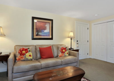 Refugio Suite Sofa center view | Brewster By the Sea Cape Cod B&B | Brewster, MA