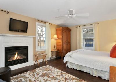 Beach Blossom Room Fireplace | Brewster By the Sea Cape Cod B&B | Brewster, MA