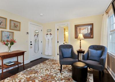 Beach Blossom Room Chairs | Brewster By the Sea Cape Cod B&B | Brewster, MA