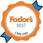 Blue and orange Fodor's Best Cape Cod award   Brewster By the Sea Cape Cod Inn   Brewster, MA