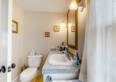 Beach Blossom Bathroom | Brewster By the Sea Cape Cod B&B | Brewster, MA