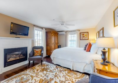 Beach Blossom Fireplace Bed | Brewster By the Sea Cape Cod B&B | Brewster, MA